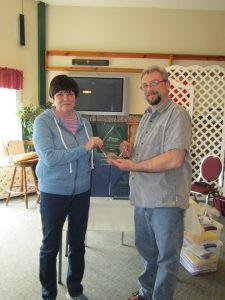 Sheila accepting on behalf of Evelyn Hancock